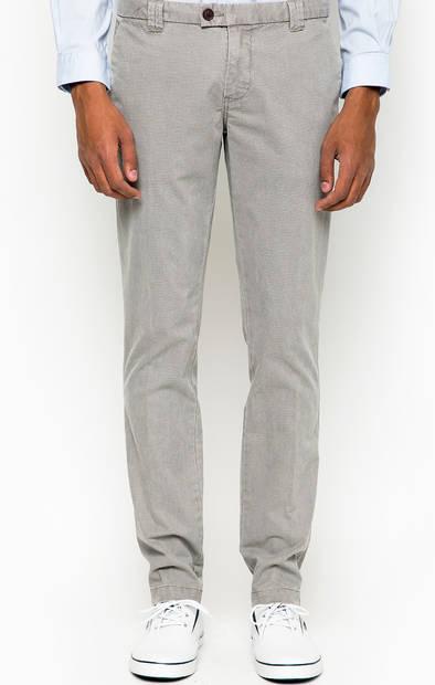 Серые зауженные брюки