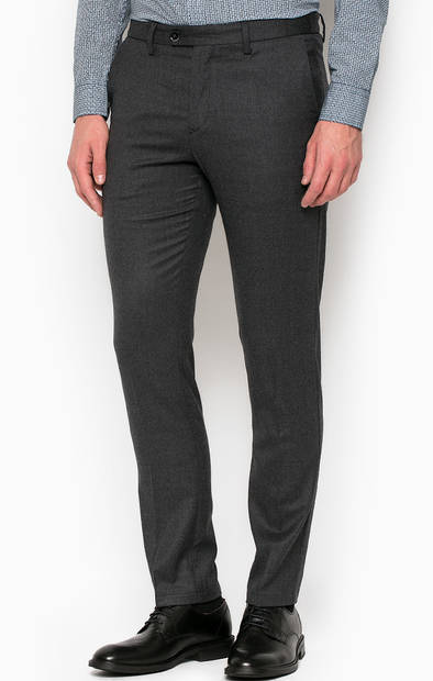 Однотонные шерстяные брюки