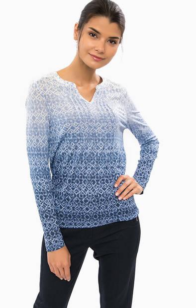 Трикотажная футболка с длинными рукавами