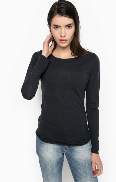 Базовая синяя футболка с длинными рукавами