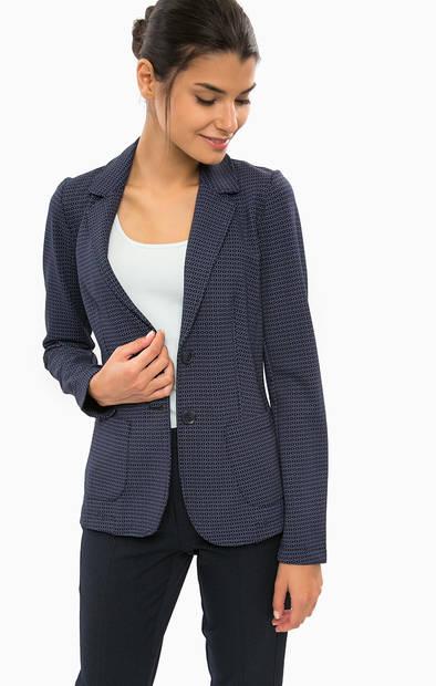Синий пиджак из вискозы с карманами